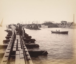 South end, main dam [Victoria Dock construction, Bombay].